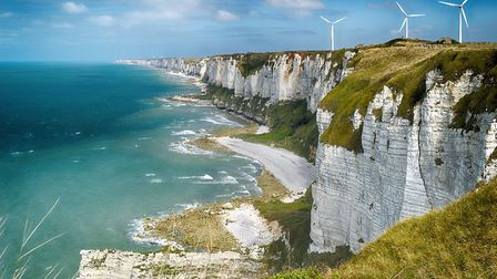 The dramatic Côte d'Albâtre in Normandy (c)Getty Images