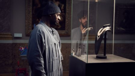 Assane Diop plans a heist in new series Lupin (c) emmanuel guimier/courtesy of netflix