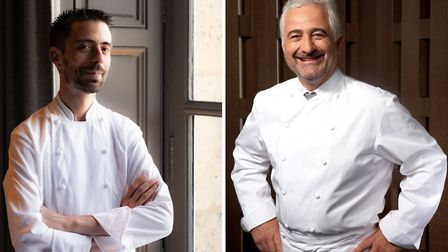 Chefs Guillaume Godin © Laurence Mouton and Guy Savoy © Brian Leatart