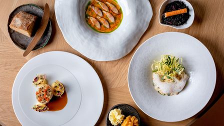 Delightful dishes at Hélène Darroze at The Connaught