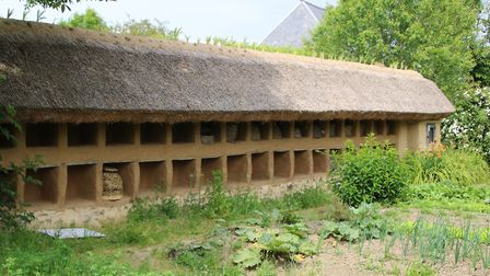 The wall of beehives at Tessy-Bocage. Pic: Vincent Giard, Cote Manche