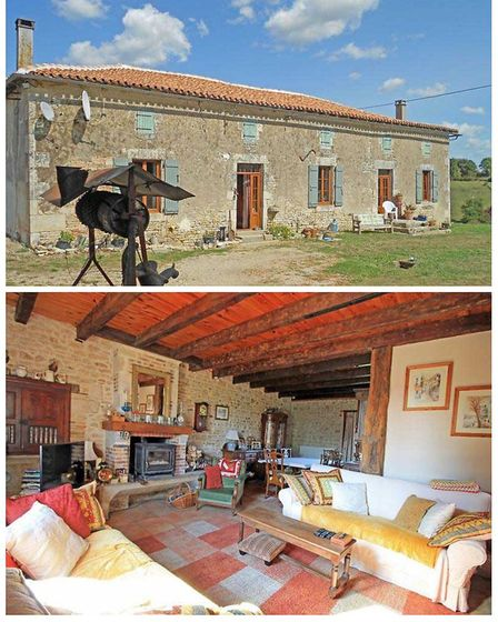A four-bedroom stone house with outbuildings on the market with Actous Immobilier