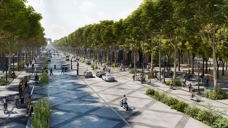 The avenue will be lined with vegetation. Pic: PCA-STREAM