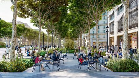 The avenue will be a great space for socialising outdoors. Pic: PCA-STREAM