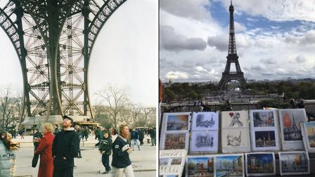 Enjoying different views of the Eiffel Tower © Dan Daly