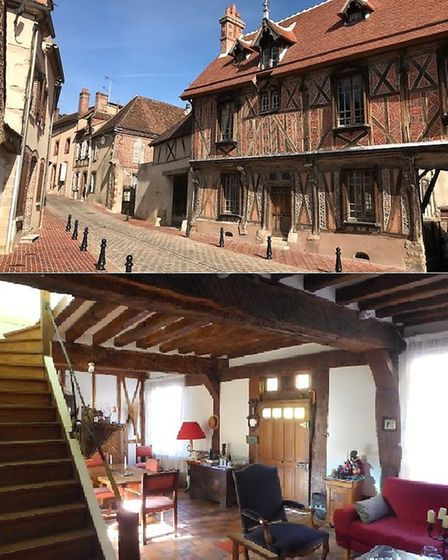 Historic home for sale in Yonne market town with Leggett