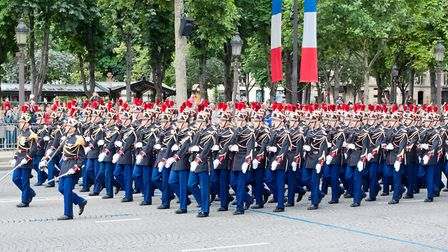 Soldiers in the Bastille Day parade. Pic: mmeee/Getty