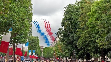 The Patrouille de France aviation display team on Bastille Day. Pic: mmeee/Getty