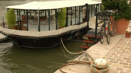One of the many floating cafés in Paris (c) Heidi Fuller-love