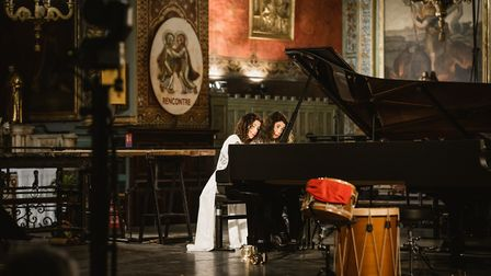 The Soeurs Labeque performing as part of the Concert Academie Ravel. Pic: Mathieu Mengaillou/Festiva
