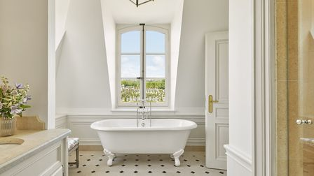 Relax in the luxurious bathroom in the Madame de Stael room © credit Renee Kemps