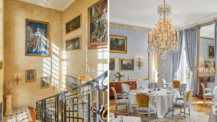 The grand staircase, and the restaurant by Alain Ducasse © Renee Kemps