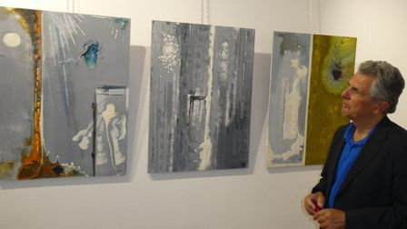 Russell Boncey and his paintings