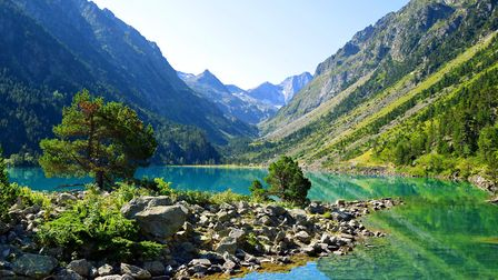 Gaube lake in the Pyrenees mountains (c) vencavolrab Getty Images
