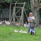 Janine and her feathered friends (c) Janine Marsh