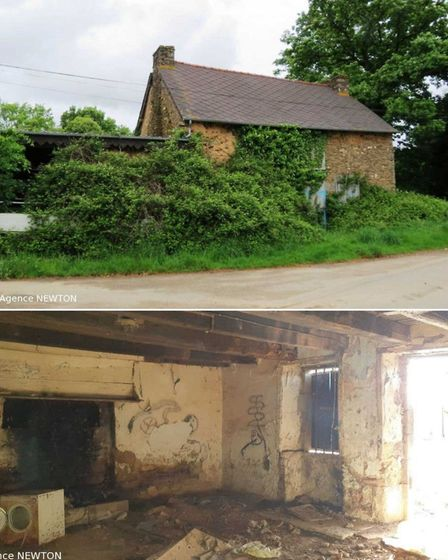 Two houses in Ménéac, Morbihan, Brittany for sale with Agence Newton