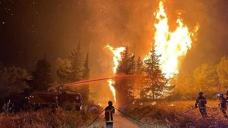 Battling the wildfire in Aude - Photo Securite Civile