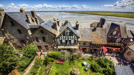 Houses in Mont Saint-Michel (c) RolfSt / Getty Images