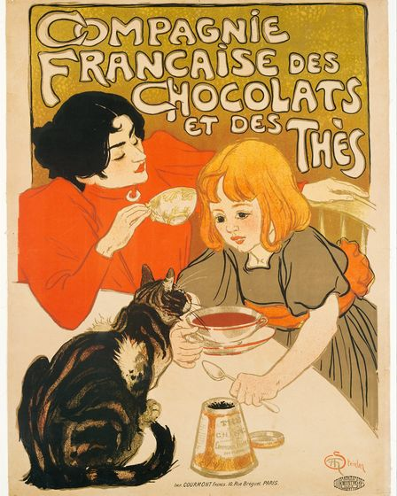 Another of Steinlen's cat-inspired artworks