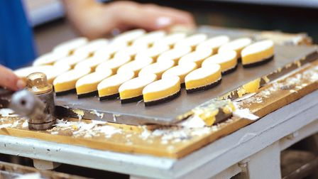 The making of the calissons. Pic: Confiserie du Roy Rene
