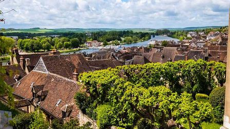 View from a house in the Yonne town of Joigny for sale with Leggett Immobilier