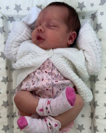 Piper Summersgill (pictured) was born at home on August 10.