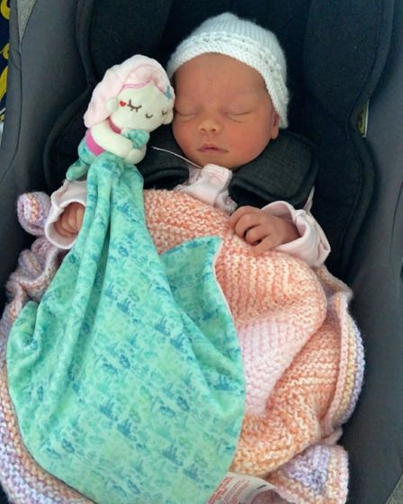 Piper Summersgill (pictured) was born at home on August 10
