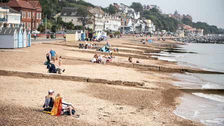 The September sunshine was enjoyed by people who travelled to Felixstowe beach