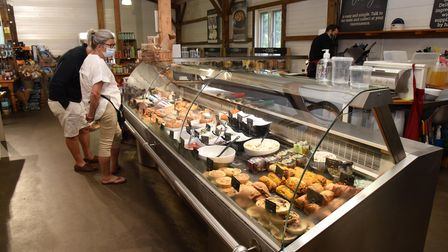 The deli counter at Suffolk Food Hall