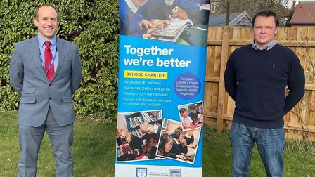 Darren Aitchison and Mark Girling, headteacher at Fairfield and Colneis schools in Felixstowe