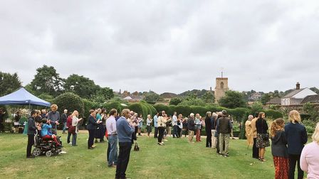 The Papillon Project celebrated its second anniversary in the Bishop of Norwich's private garden