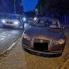 The Jaguar was seized by police in Newmarket