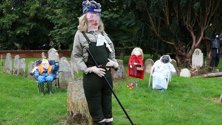 The Harvest festival featured a scarecrow competition.