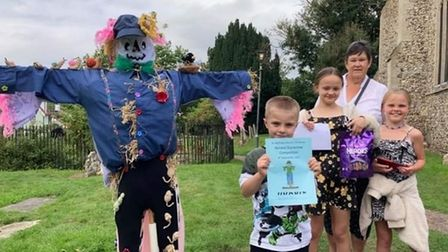 The festival featured a scarecrow competition with best in show awarded to the Brooks family