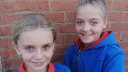 Third Chatteris Girl Guides, Scarlett (L) and Evelyn Patterson (R) who attended the town council meeting on Tuesday.