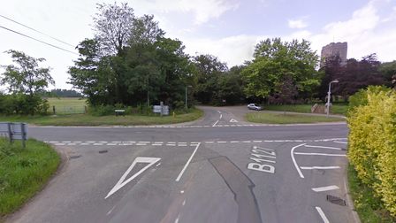 A crash involving two cars has left the B1127 closed
