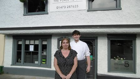 Mother and son Tina Leamon and James Leamon of The Grill at Twenty5