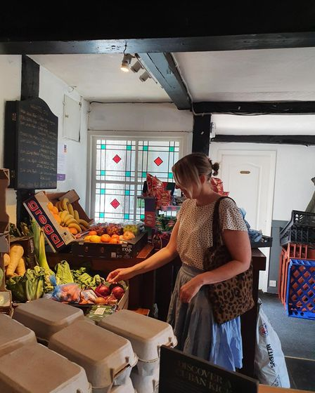 The Chestnut Pub in Great Finborough has transformed into a community shop to help those in need dur