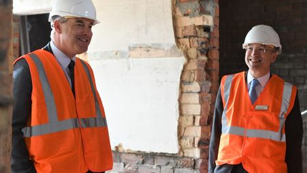 Steve Barclay during a visit to upgrade work at March railway station