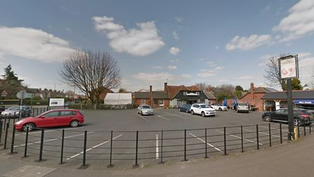 The incident happened in the car park of the Leather Bottle pub in Colchester