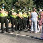 Another day another protest outside MBA Acres in Wyton