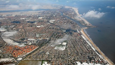 Pic Gorleston and Great yarmouth looking north from 2000 ft.