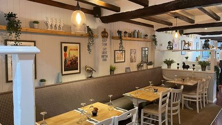The High Flyer in Ely has reopenedwith a newcoffee shop following a makeover.This is the new restaurant area.