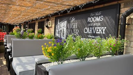 The High Flyer in Ely has reopenedwith a new alfresco dining areafollowing a makeover.