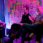 Panellists listen to young people at a Feeding Futures conference in March