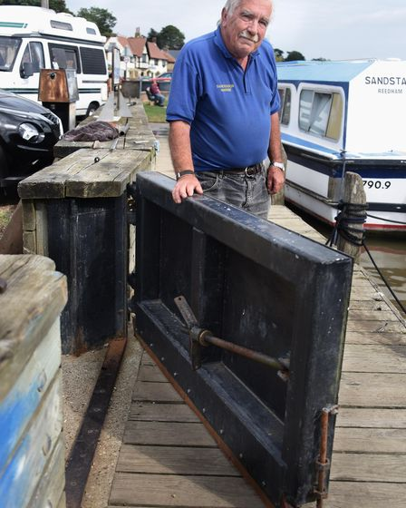 Colin Sanderson, owner of Sanderson Marine Craft at Reedham, with one of the environment agency-fund