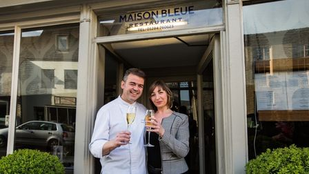 Chef patron Pascal and Karine Canevet of Maison Bleue