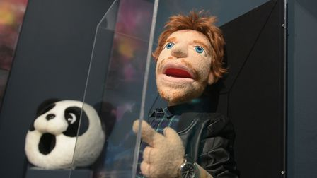 Puppets from Ed's video's are on show Picture: SARAH LUCY BROWN