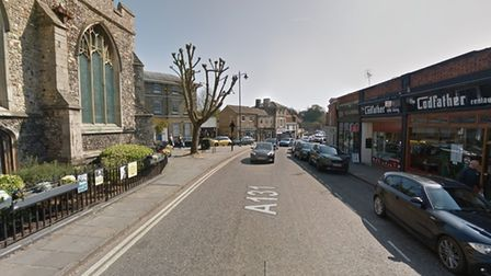 The incident happened in King Street, Sudbury town centre