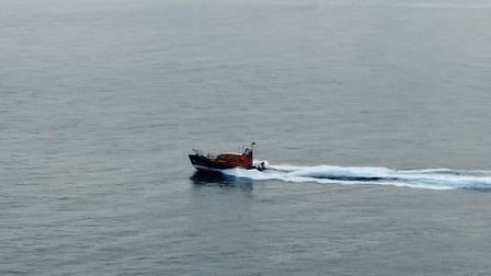 Exmouth RNLI all-weather lifeboat races to the scene
